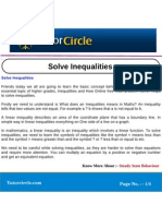 Solve Inequalities