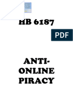 House Bill No. 6187 - Anti-Online Piracy Act of 2012