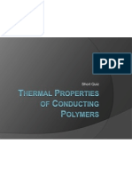 (Quiz 2) Thermal Properties of Conducting Polymers