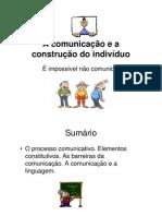 a comunicação na construção do individuo ppt