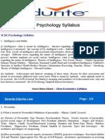 ICSE Psychology Syllabus