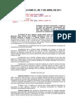 Protocolo Icms 21
