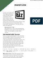 7 Zip Commandline Examples