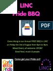 LINC Pride BBQ Poster 2012