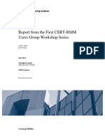 Report from the First CERT-RMM Users Group Workshop Series