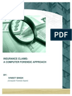 Insurance a Forensic Approach