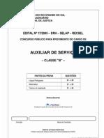Prova Auxiliar de Servico 2005