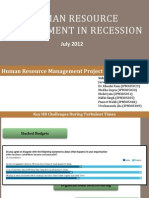 Human Resource in Recession