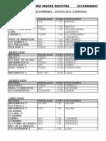 Mmesas de Examenes Sec Superior Agosto 2012