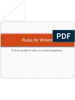 Rules for Writers - MLA