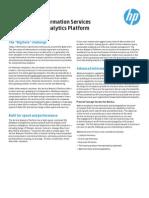 HP Advanced Information Services for the Vertica Analytics Platform