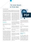Acas Changes ICAO Rules RA Reporting