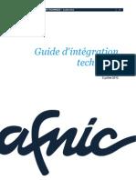 Afnic Guide Integration Technique PDF