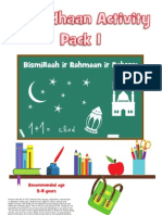 Ramadhaan Activity Pack 1
