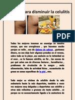 Consejos para disminuir la celulitis