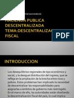 desacentralización fiscal