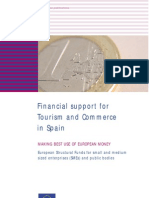 Financial support for tourism and commerce in Spain