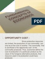 Fundamental Concepts of Economics