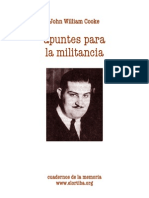Cooke John William - Apuntes Para La Militancia