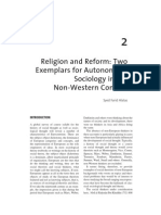Alatas Religion and Reform Two Exemplars for Autonomous Sociology in the Non Western Context
