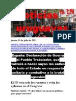 Noticias Uruguayas Jueves 19 Julio Del 2012