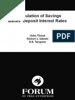 Deregulation of Savings Banks' Deposit Interest Rates - Usha Thorat, Kishori Udeshi, S. S. Tarapore