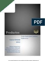 Curso Estatal 2012. Productos. KARLA JIMÉNEZ