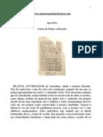 Apócrifos - Cartas de Pilatos a Herodes
