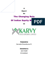 Dhaval Chaning Role of Equity Market