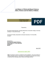 The Extent and Nature of Witchcraft-Based Violence Against Children, Women and the Elderly in Malawi,