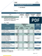 Precios Energeticos Regulados Jan 2012
