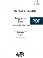 Bachelard-Fragments d'une poétique du feu
