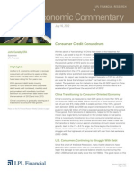 Weekly Economic Commentary 7-19-2012