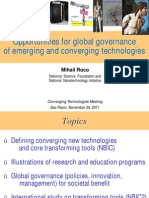 Converging Technologies for Improving Human Performance (Power Point Presentation)