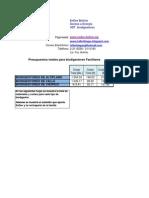 Presupuesto BDGS BOLIVIA Dic09