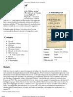 A Modest Proposal - Wikipedia, The Free Encyclopedia
