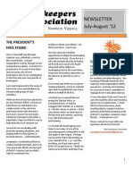 BANV Newsletter (New) July to Aug 2012
