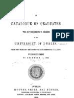 Graduates of TCD 1766 to 1869