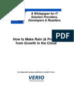 Cloud Resller - Make Rain and Profits From Cloud Computing
