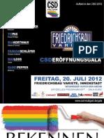 Programmheft zur CSD Eröffnungsgala 2012 - Christopher Street Day (CSD) Stuttgart 2012