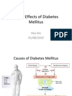 Acute Effects of Diabetes Mellitus