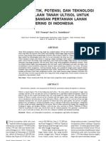 Karakteristik Potensi, Dan Teknologi Pengelolaan Tanah Ultisol Untuk an Pertanian Lahan Kering Di Indonesia