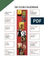 2012 Book Club Calendar