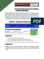 MODULE 1 Ocean and Coastal Habitat - SECTION 9 Coastal Landforms