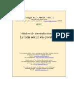 Balandier(1989) Reel Social