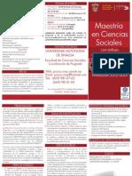Triptico Maestria Ciencias Sociales UAS 2012
