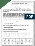 Teacher Literacy Profile