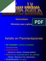 Generalidades de Las Emulsiones Asfalticas