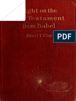 Light on the Old Testament From Babel, Albert Clay. 1907