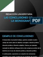 LAS CONCLUSIONES DE LA MONOGRAFÍA